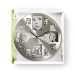 Ronde wandklok | Diameter 40 cm | Fotolijst | Zilver