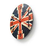 Ronde wandklok | Diameter 30 cm | Union Jack-afbeelding