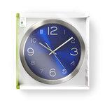 Ronde wandklok | Diameter 30 cm | Blauw & roestvrijstaal