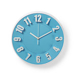 Ronde wandklok | Diameter 30 cm | Blauw