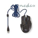 Gaming-muis | Met kabel | Verlicht | 3200 dpi | 8 knoppen