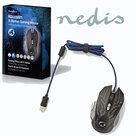 Gaming-muis- -Met-kabel- -Verlicht- -4000-dpi- -9-knoppen