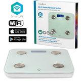 Wi-Fi smart personenweegschaal | BMI, Vet-, Water-, Bot-, Spieren-, Eiwitgehalte | Gehard Glas | 8 Personen_