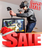 Virtual Reality-Bril Zwart/Zilver_