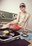 Platenspeler SD / LP / Radio 1.6 W Zwart - Speciale aanbieding_