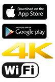 Actioncam | Ultra-HD 4K | Wi-Fi | Waterdichte behuizing_