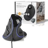 Ergonomische  bedrade muis | 1600 dpi | 6-Button | Zwart_