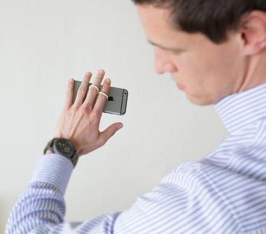 Selfie-Ring Smartphone-Houder Wit