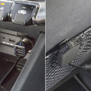 Autolader 4-Uitgangen 9.6 A USB Zwart