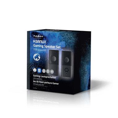 Gaming-luidsprekers   2.0   Over USB gevoed   3,5 mm jack   RMS 6 W