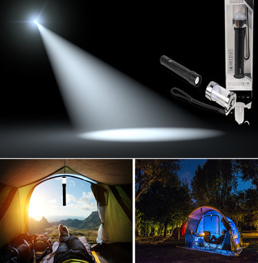 Multifunctionele LED zaklamp - Metaal - 150 meter beam