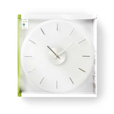 Ronde wandklok | Diameter 30 cm | Elegant | Glas