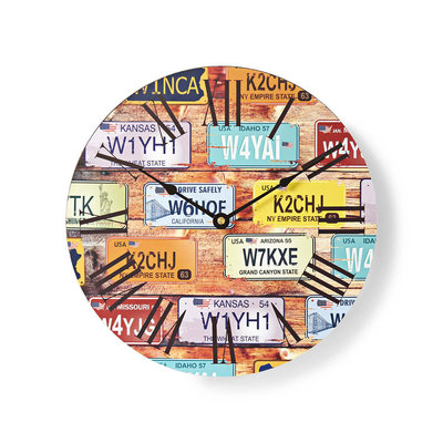 Ronde wandklok | Diameter 30 cm | Travel-thema