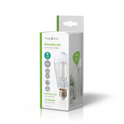 Retro LED-gloeilamp E27 | ST64 | 5,1 W | 470 lm