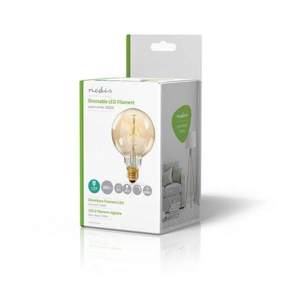 Dimbare vintage LED-gloeilamp E27 | G95 | 5 W | 260 lm
