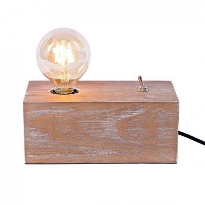 Houten Retro Tafellamp