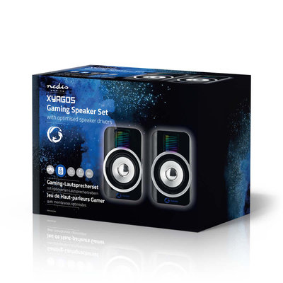 Gaming-luidsprekers | 2.0 | RGB | Over USB gevoed | 3,5 mm jack | RMS 10W