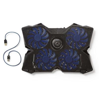 Koeler voor gaming-laptop | 4 over USB gevoede ventilatoren | 15 - 19