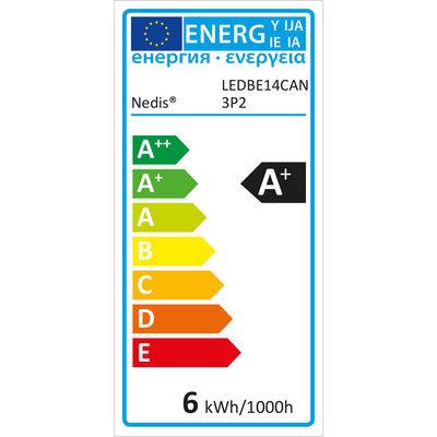 LED-Lamp E14 | Kaars | 5,8 W | 470 lm - 3 pack