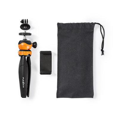 Driepoot | Max. 1,5 kg | 16 cm | Zwart/oranje