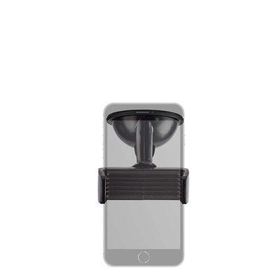 Universele Smartphonehouder voor in de Auto | Raam/dashboard | Zwart
