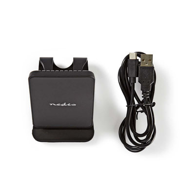 Smartphone desktopstandaard met Draadloze Oplader | 10 W | USB type-C™ | Zwart