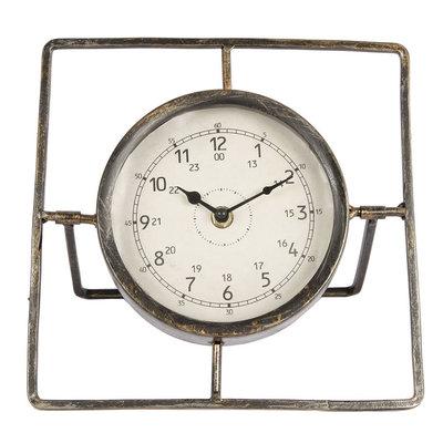Tafelklok Metaal, 22cm