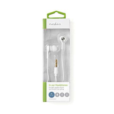 Headset In-Ear 3.5 mm Ingebouwde Microfoon 1.2 m - zwart of wit