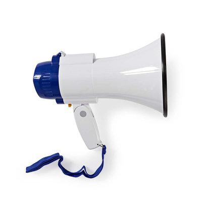 Megafoon | 10 W | Bereik van 250 m | Ingebouwde microfoon | Wit / blauw
