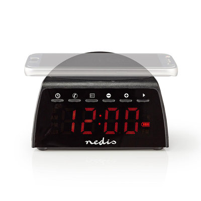 Digitale Wekkerradio | Draadloos Telefoon Opladen | FM | Bluetooth® | Stereo