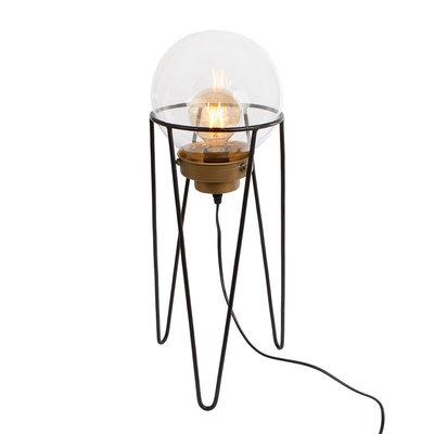 Vloerlamp Glas op Driepoot, 57,5cm