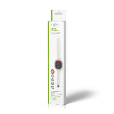 Persoonlijk veiligheidsalarm   Waterdicht   Ontwerp met polsbandje   ≥ 85dB-alarm   Knipperende led
