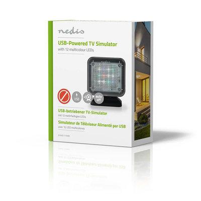 TV Simulator | Ingebouwde Timer | Gevoed via USB | Zwart