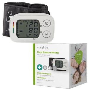 Polsbloeddrukmeter | LCD | Tijd/Datum | 4x 30 Geheugenopslag