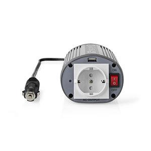 Stroomomvormer Gemodificeerde Sinusgolf | 12 V DC - 230 V AC | 150 W | 1x Schuko / 1x USB-Uitgang