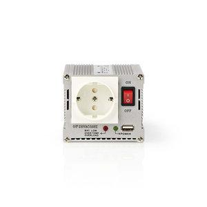 Stroomomvormer Gemodificeerde Sinusgolf   12 V DC - 230 V AC   300 W   1x Schuko / 1x USB-Uitgang