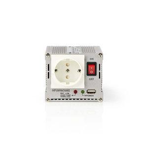 Stroomomvormer Gemodificeerde Sinusgolf | 24 V DC - 230 V AC | 300 W | 1x Schuko / 1x USB-Uitgang